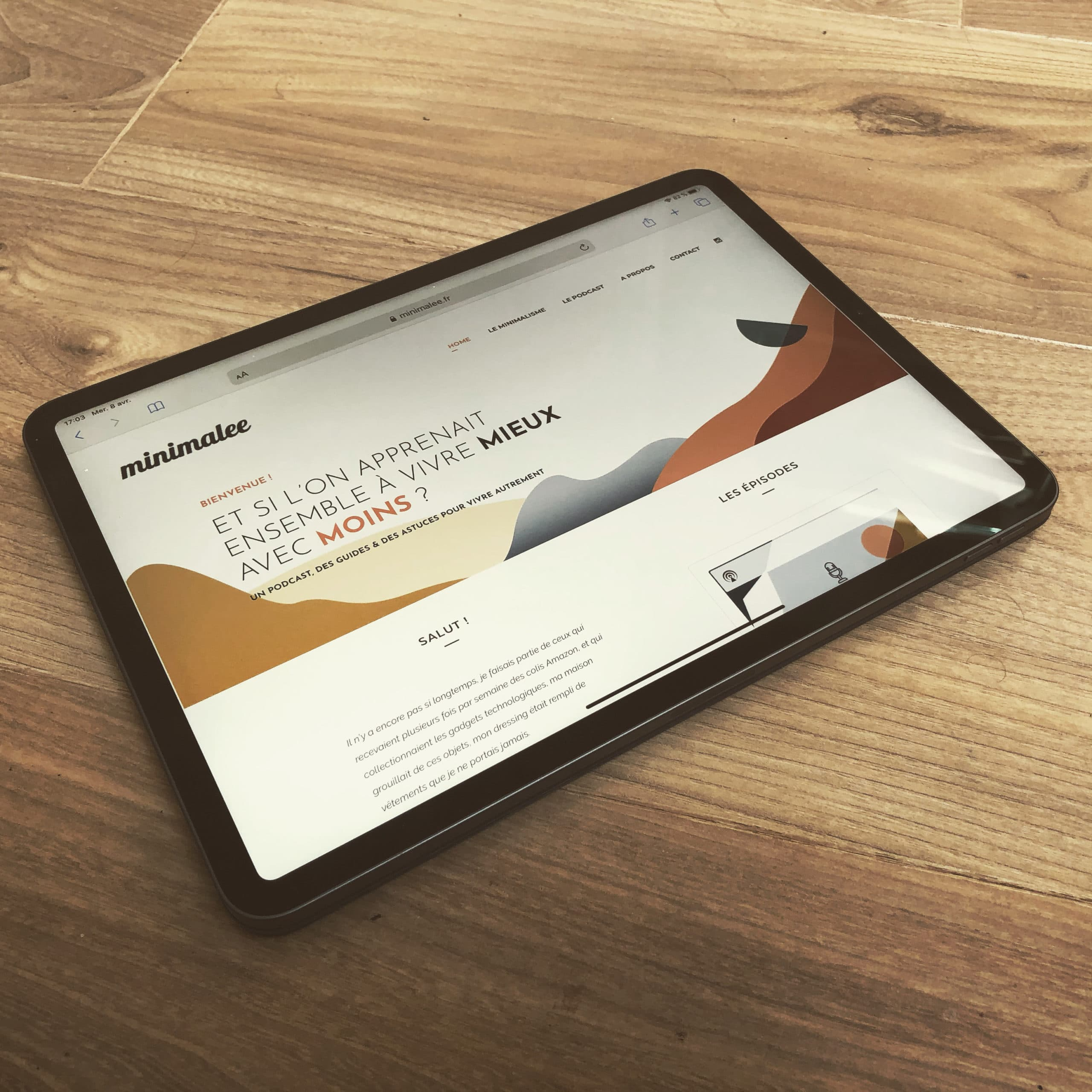 Minimalee minimalisme ipad technologie